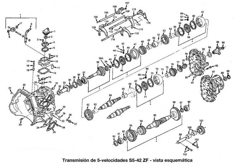 zf s5 4 2 transmission diagram