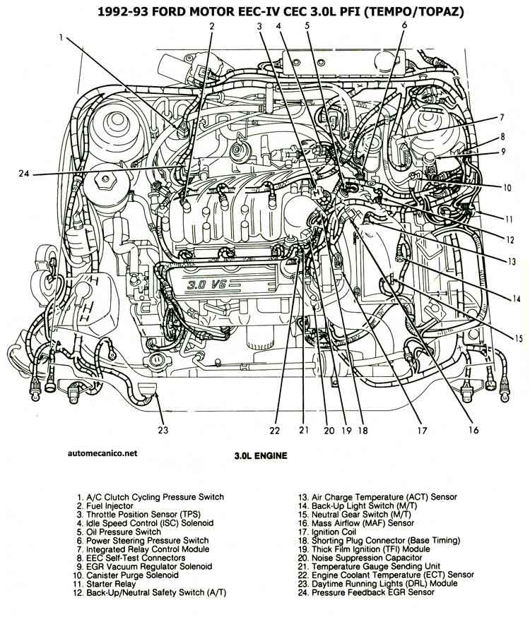 94 ford tempo radio wiring diagram