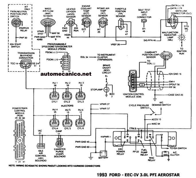 wiring diagram for 1993 ford probe