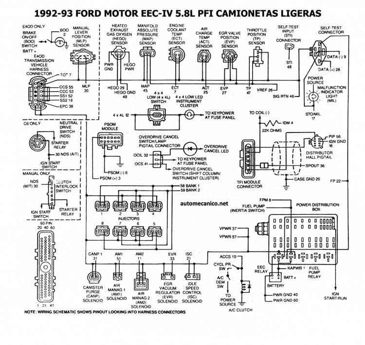 diagrama de encendido electronico de ford ranger