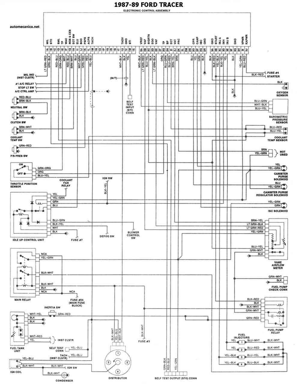ford 1986 93 diagramas, esquemas, graphicsDiagrama Electrico De Ford #10