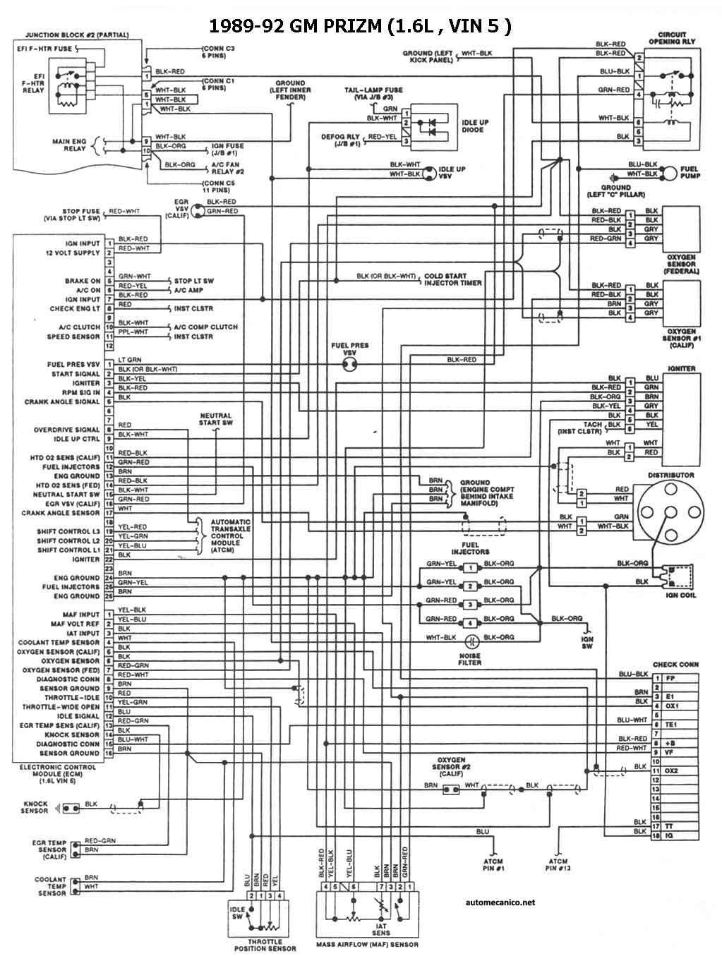 Geo Metro Cooling Fan Wiring Radio Wiring Diagram For 1993 Geo Metro