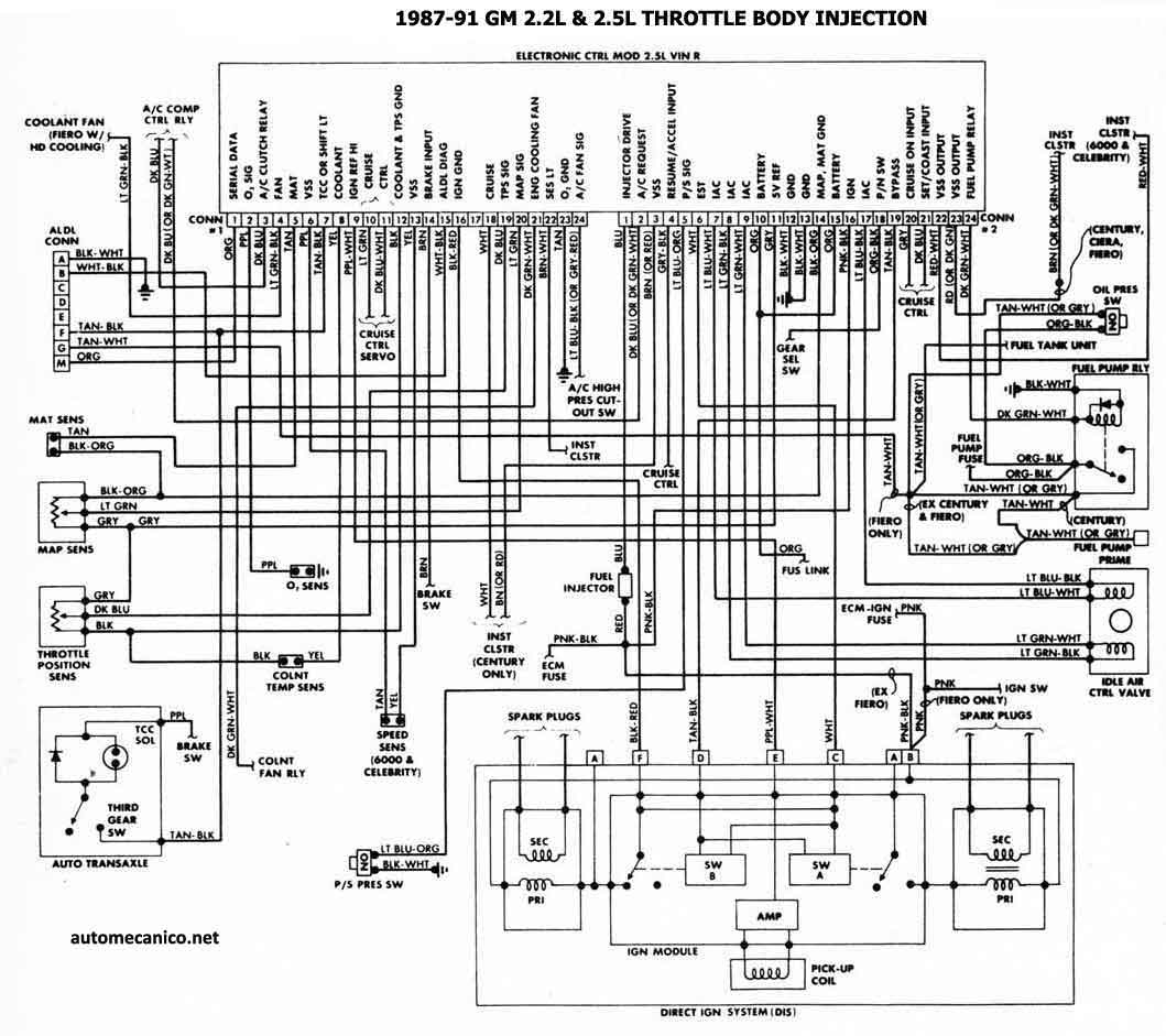 diagrama electrico chevy 97