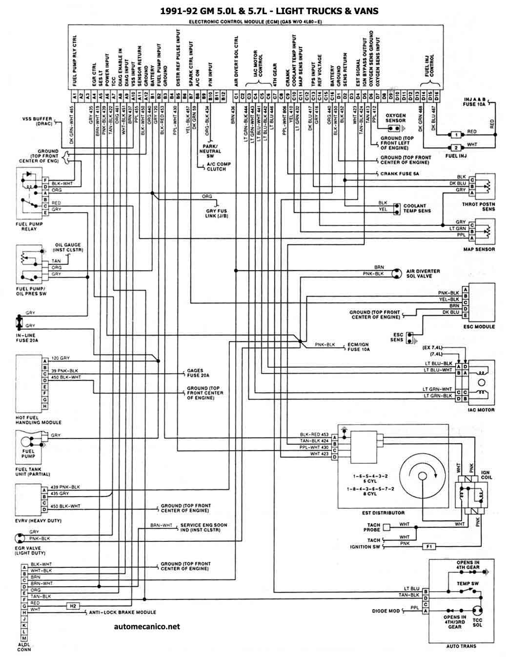 opel corsa ecu diagram