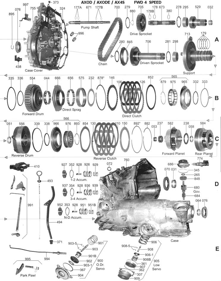 everything you need to know about the ford cd4e transmission rh etereman com Ford Transmission Parts Diagram ford transmission schematic by vin number