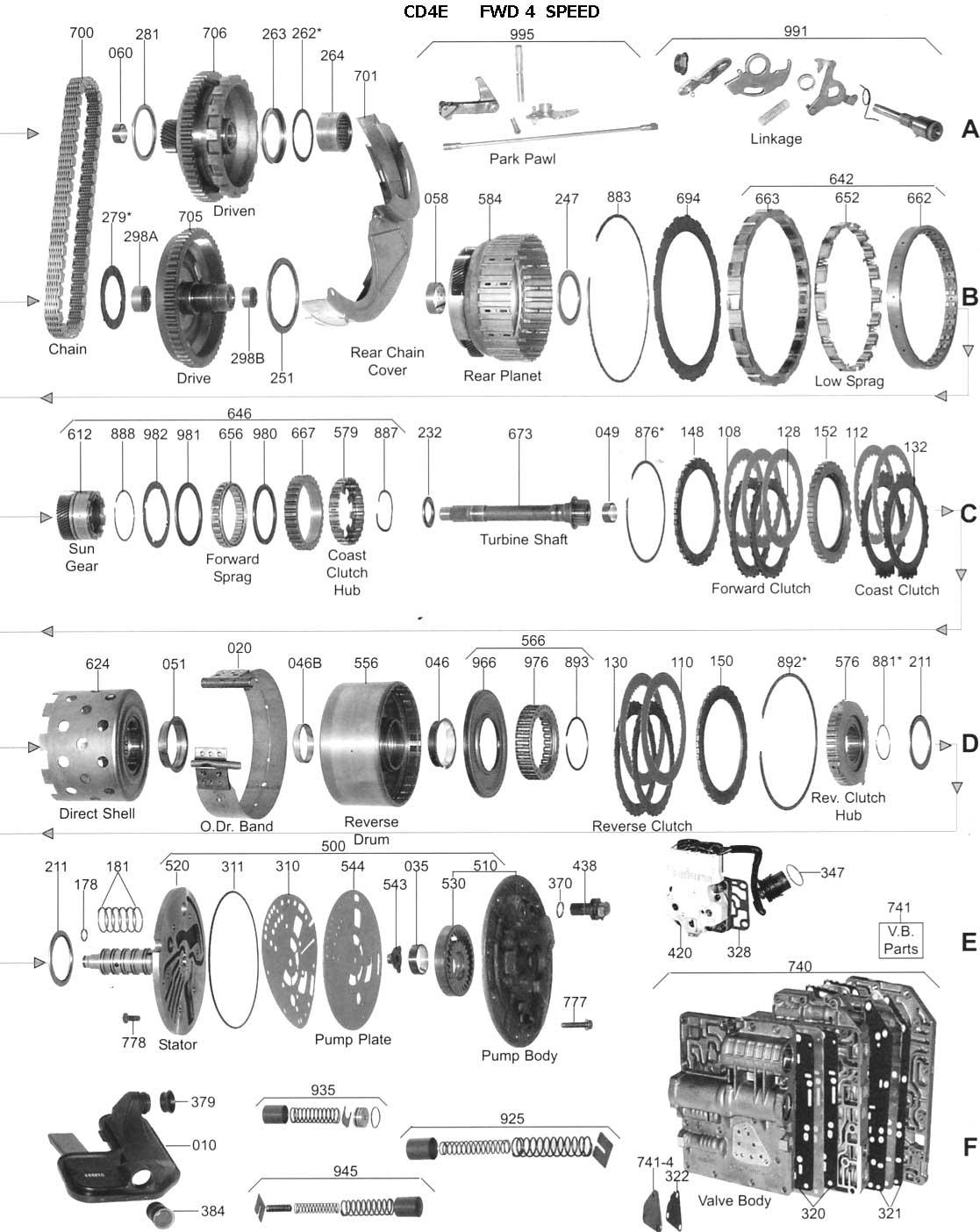 Ford Escape Fwd Transmission Diagram Com